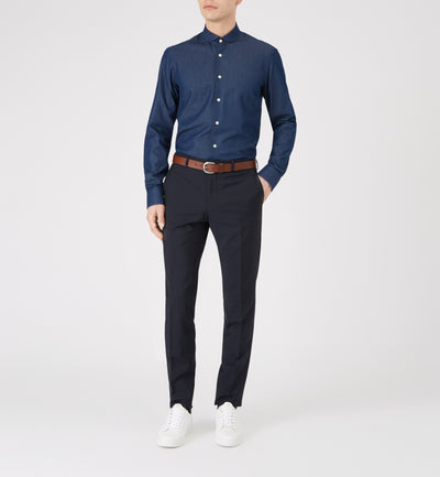 Zetter Navy Denim Shirt