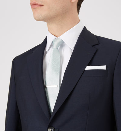 Textured White Cotton Pocket Square