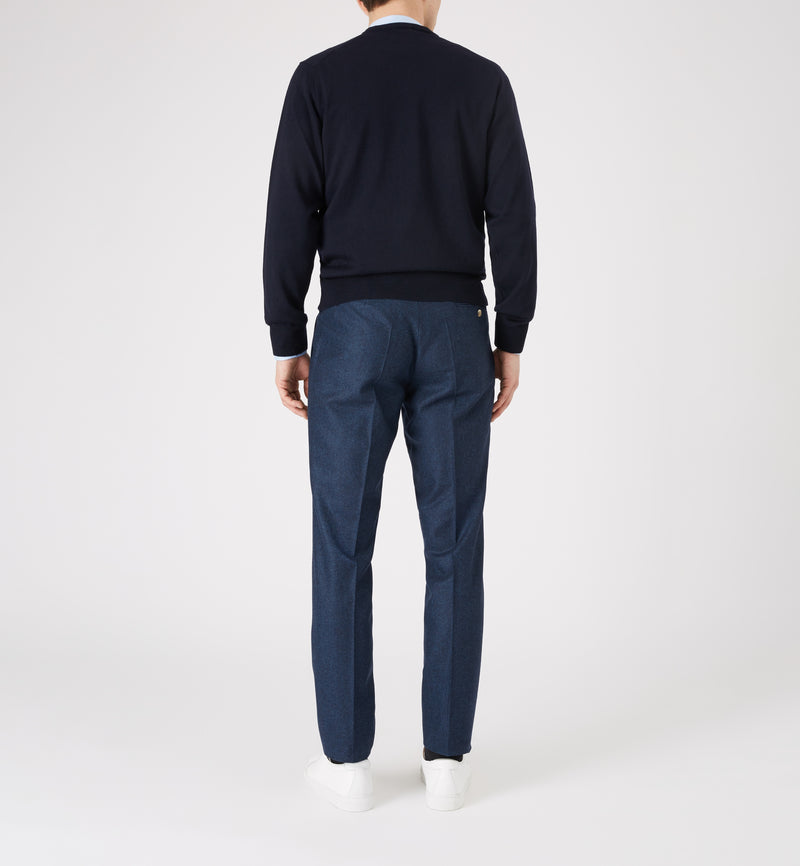 Hoi Polloi Merino Crew Neck in Navy