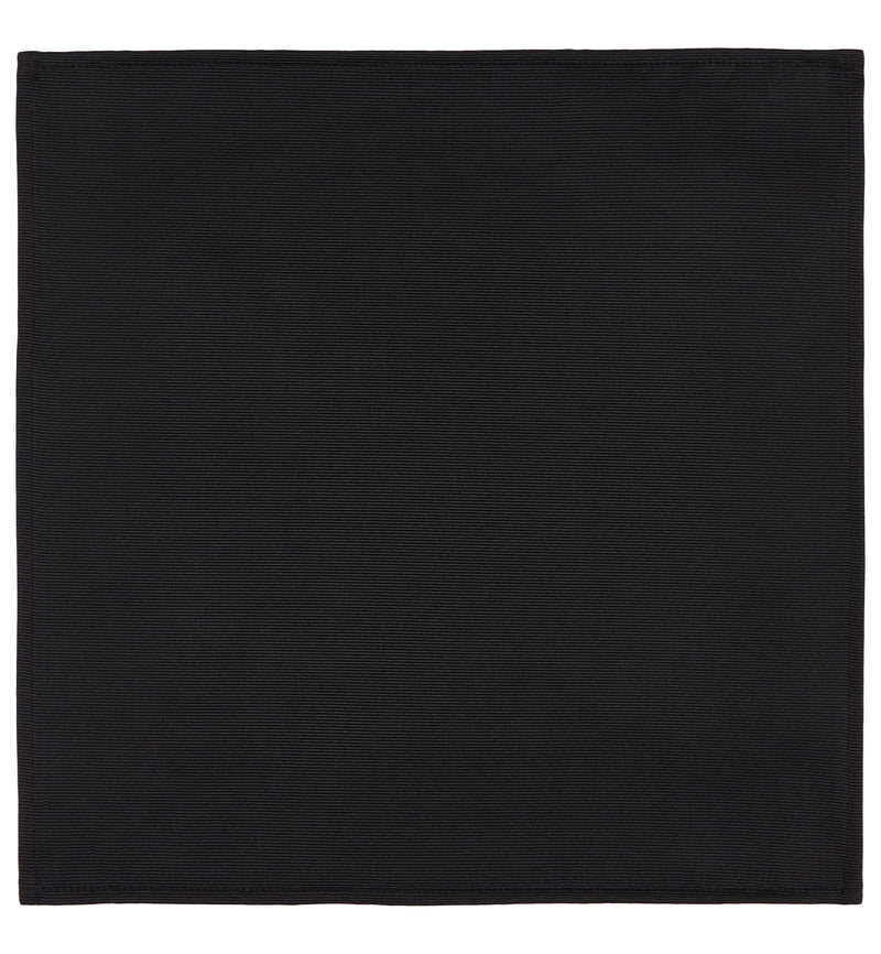 Classic Black Silk Pocket Square