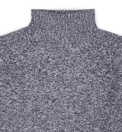 Kilbirnie Geelong Roll Neck in Blue Marl