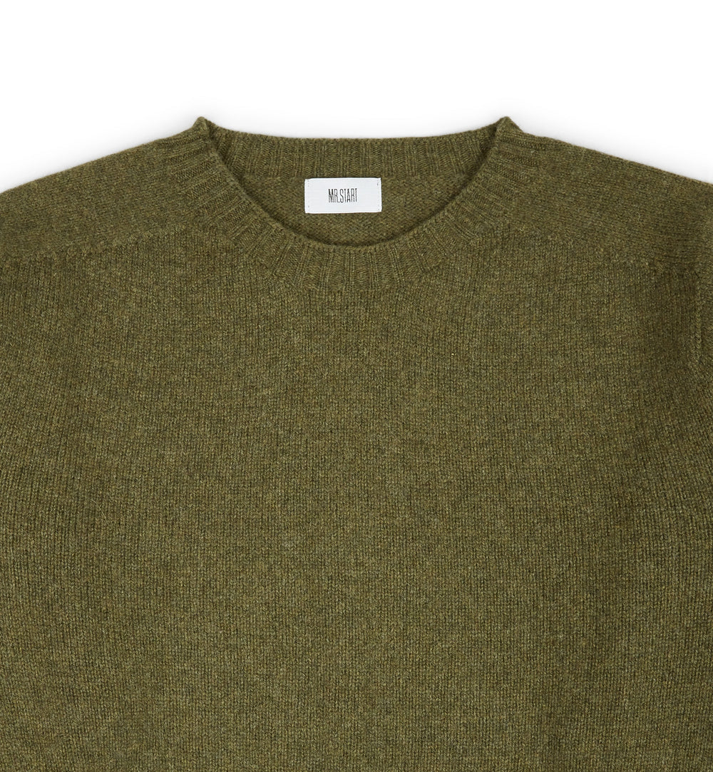Kilbirnie Geelong Crew Neck Sweater  in Loden Military Green