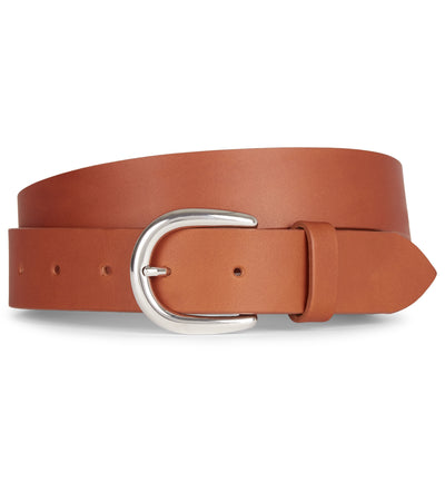 Tan Flat Edge Leather Belt
