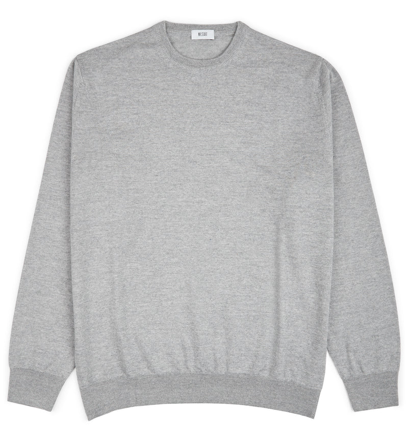 Dove Grey Hoi Polloi Merino Crew Neck