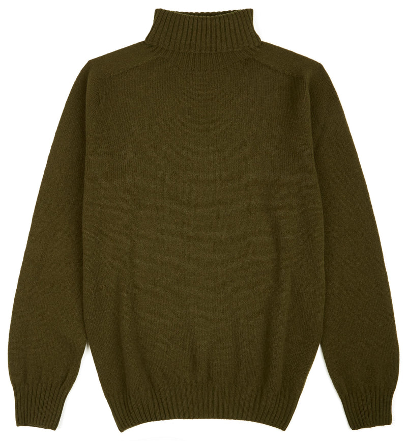 Kilbirnie Geelong Roll Neck  in Military Green
