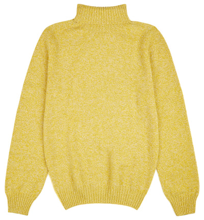 Kilbirnie Geelong Roll Neck in Yellow Marl