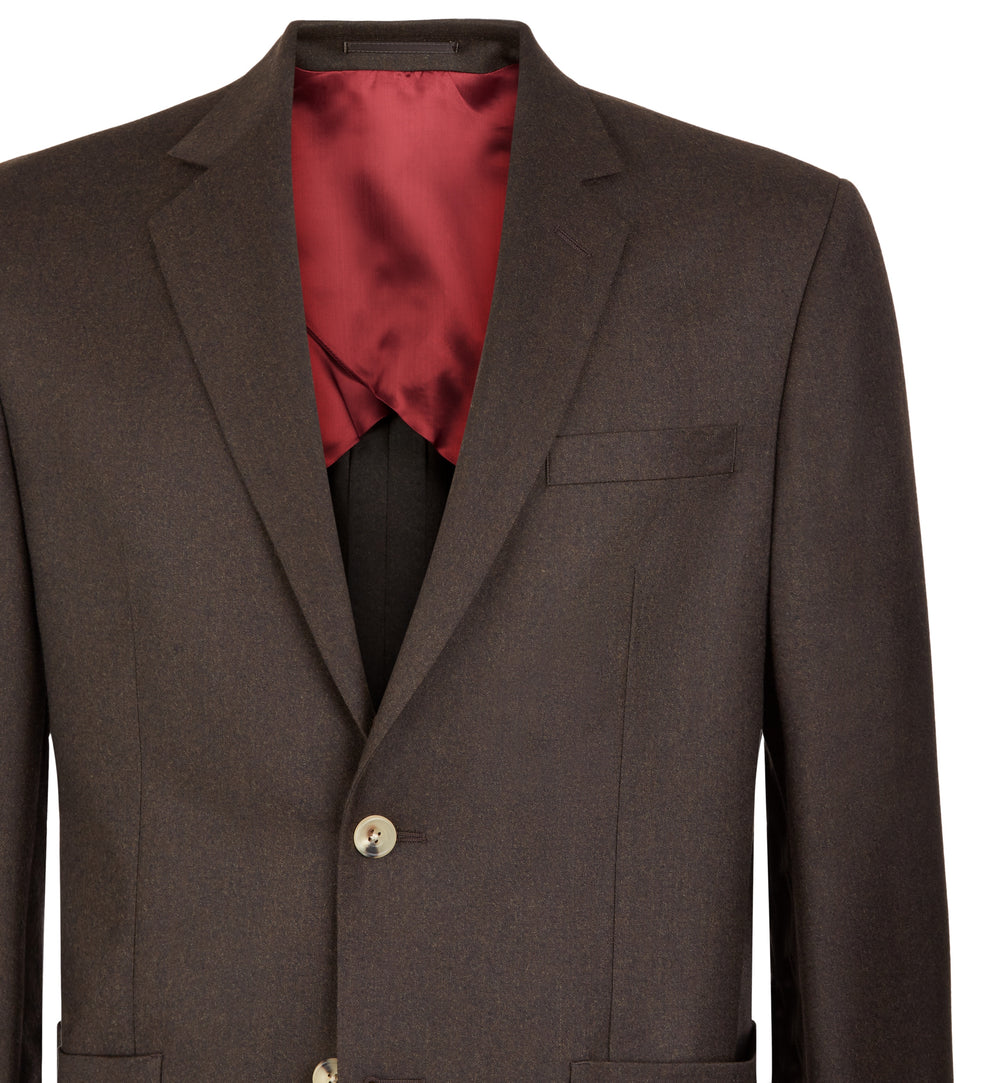 Brown Flannel Pitfield Suit