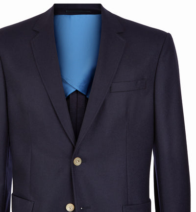 Pitfield Navy Wool Flannel Suit