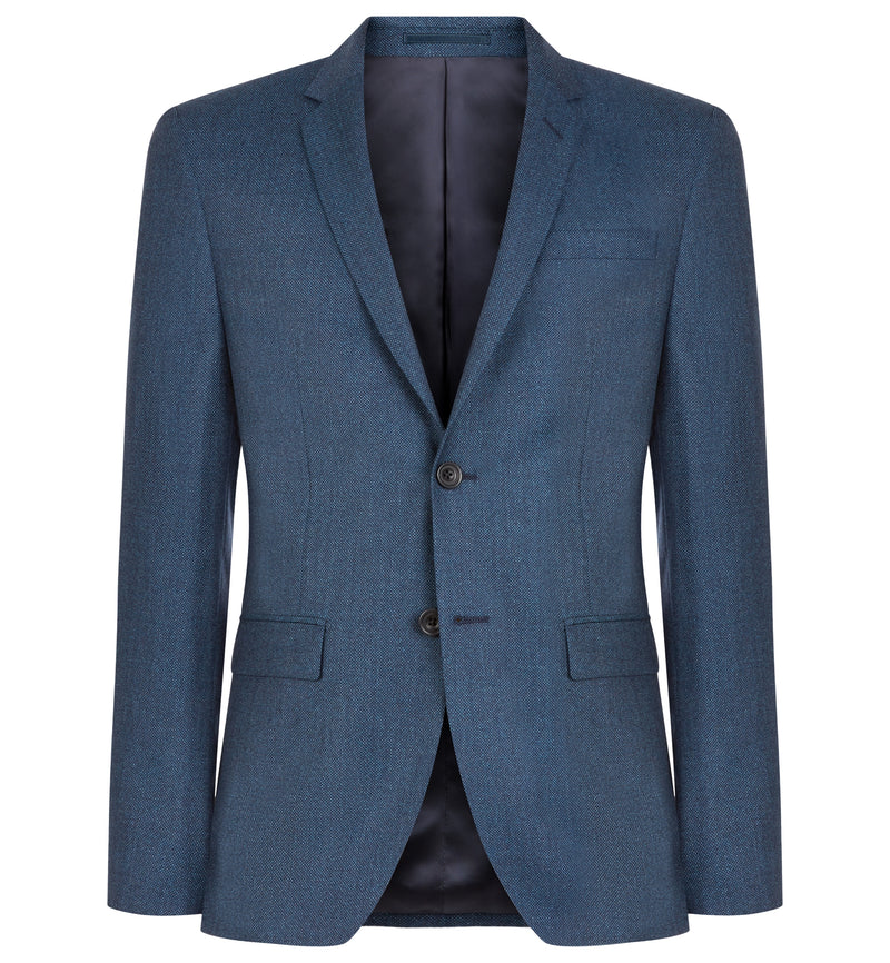 Rivington Birdseye Suit in Petrol Blue