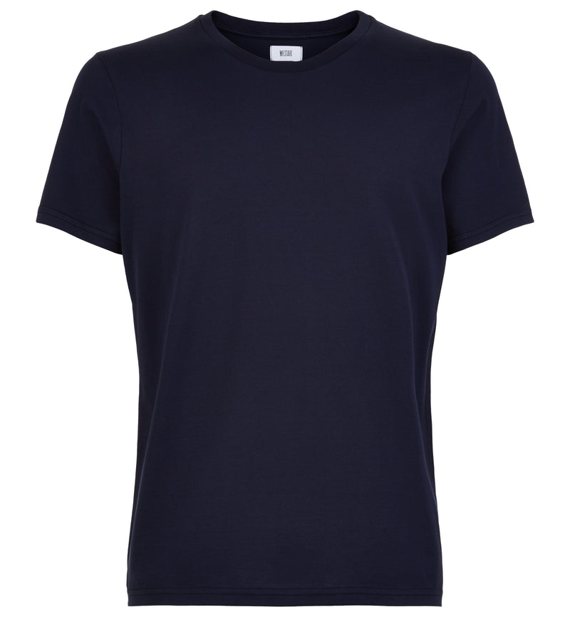 Navy Tailored Slim Crew Neck T-Shirt