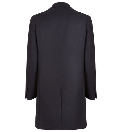 Dorchester Tailored Merino Lambswool Overcoat in Navy