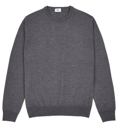 Cement Grey Hoi Polloi Merino Crew Neck