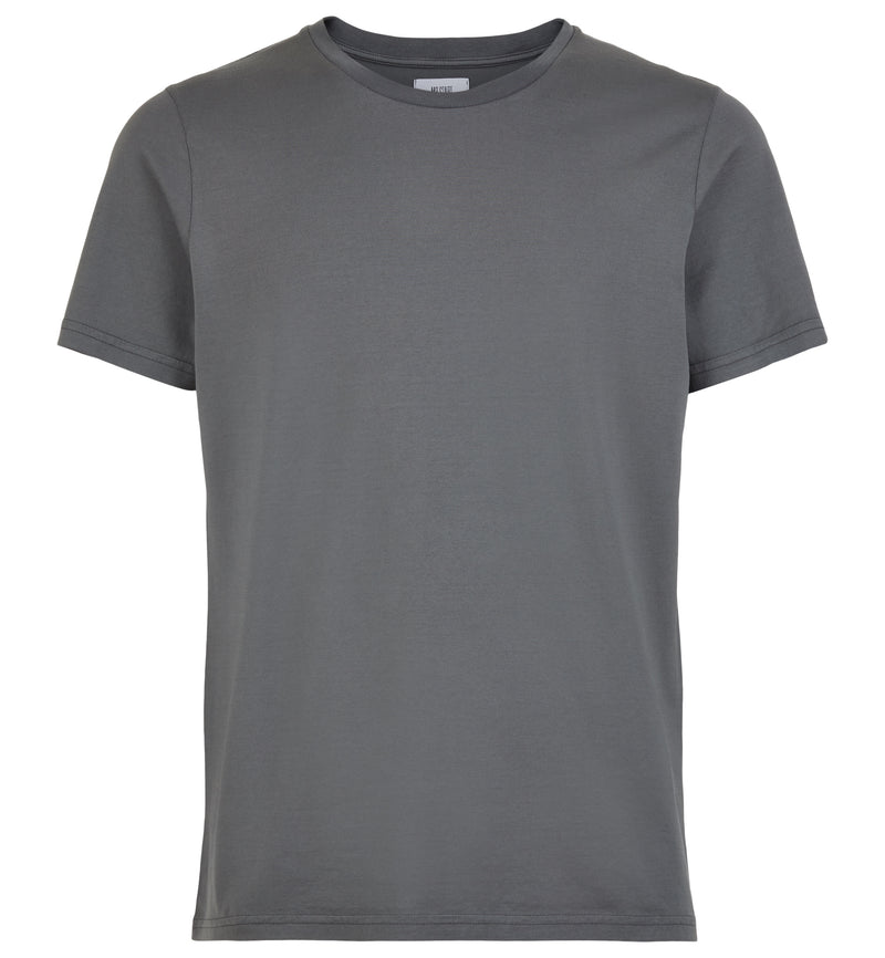 Tailored Slim Crew Neck T-Shirt in Charcoal