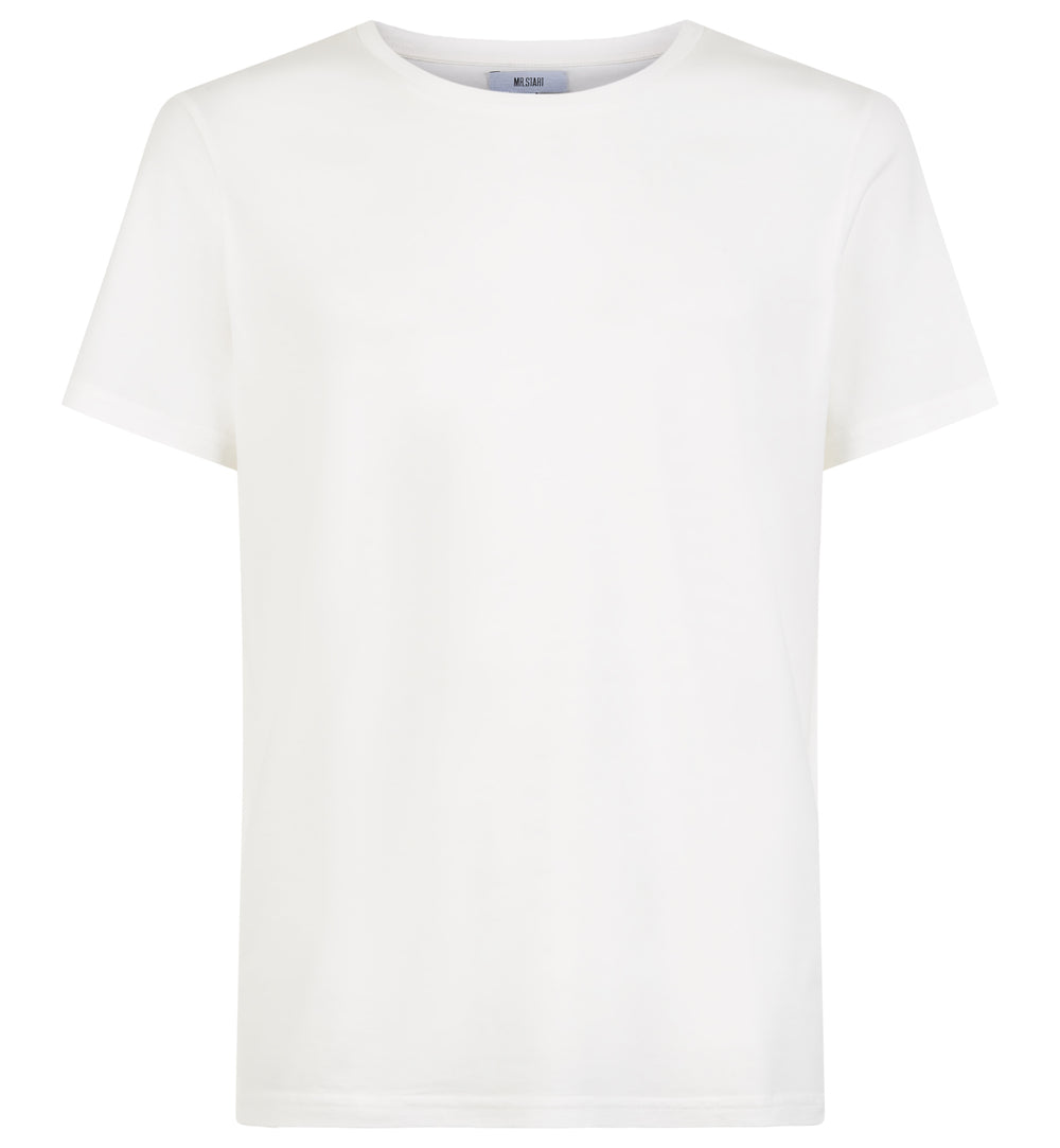 White Tailored Slim Crew Neck T-Shirt