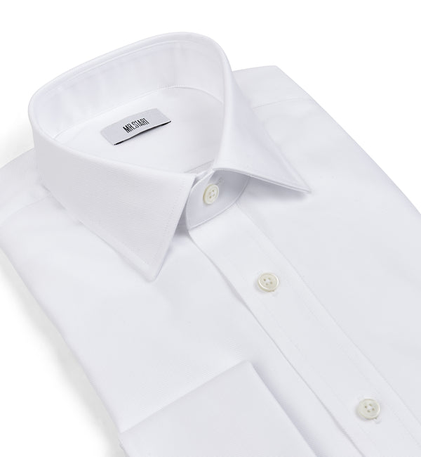 Ritz Villa Double Cuff Shirt in Classic White