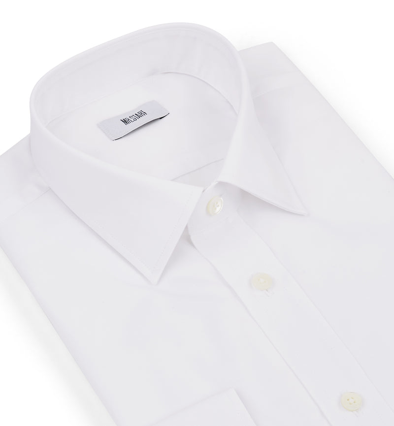 The Ritz Cotton Shirt in Classic White