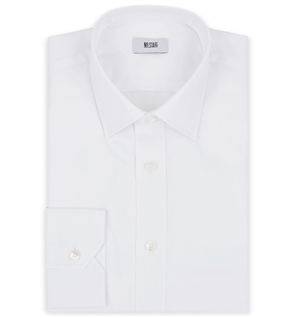 Ritz Slim Fit Cotton Shirt in Classic White
