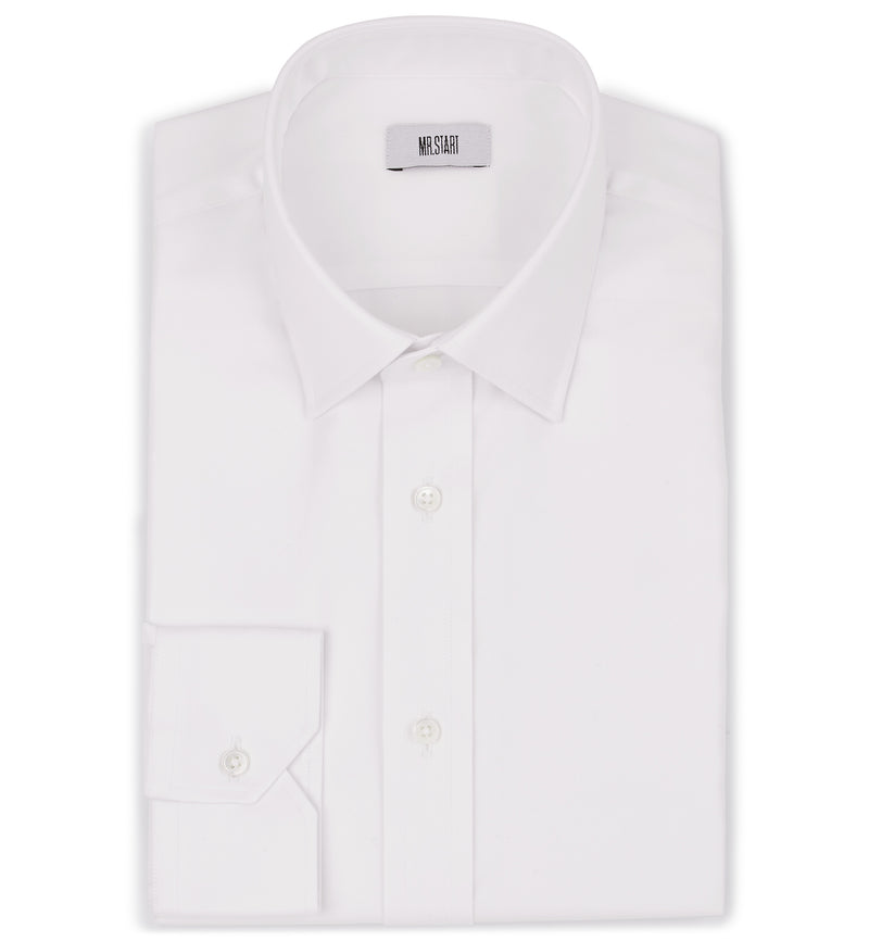 Ritz Slim Fit Cotton Shirt in Villa Weave