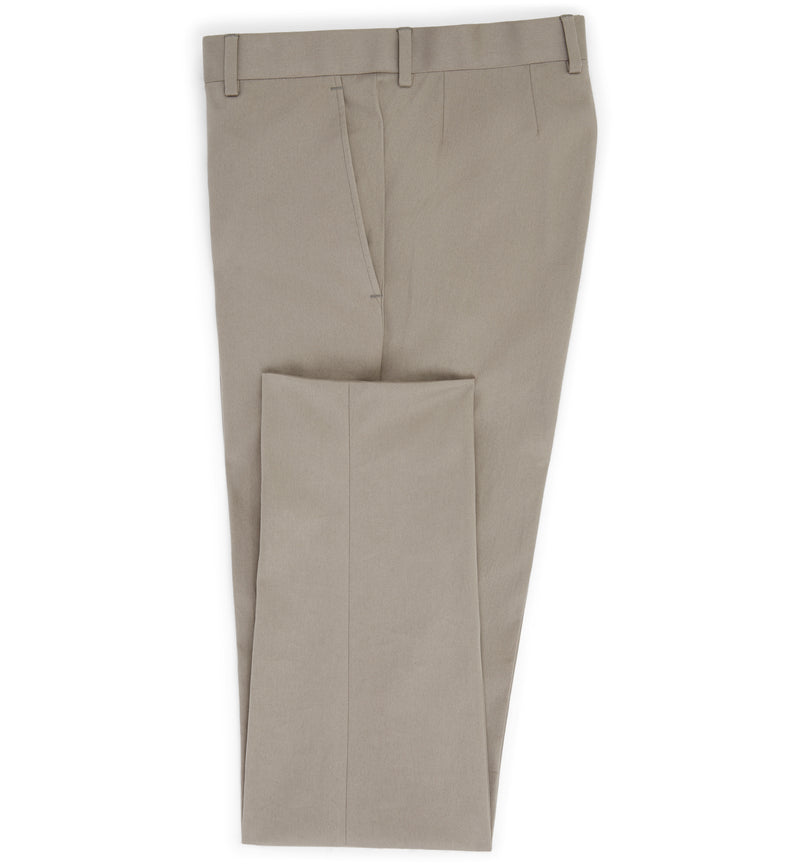 The Shakespeare Cotton Trouser in Almond