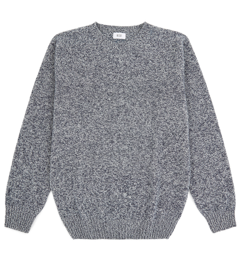 Kilbirnie Geelong Crew Neck Sweater in Blue Marl