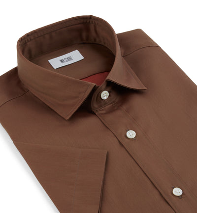 Factory Half Sleeve Dream Shirt in Rust Brown