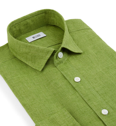 Truman Linen Shirt in Fern Green