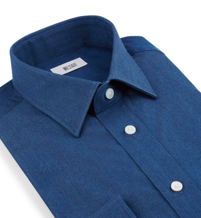 Ritz Cotton Shirt in Light Blue Washed Denim