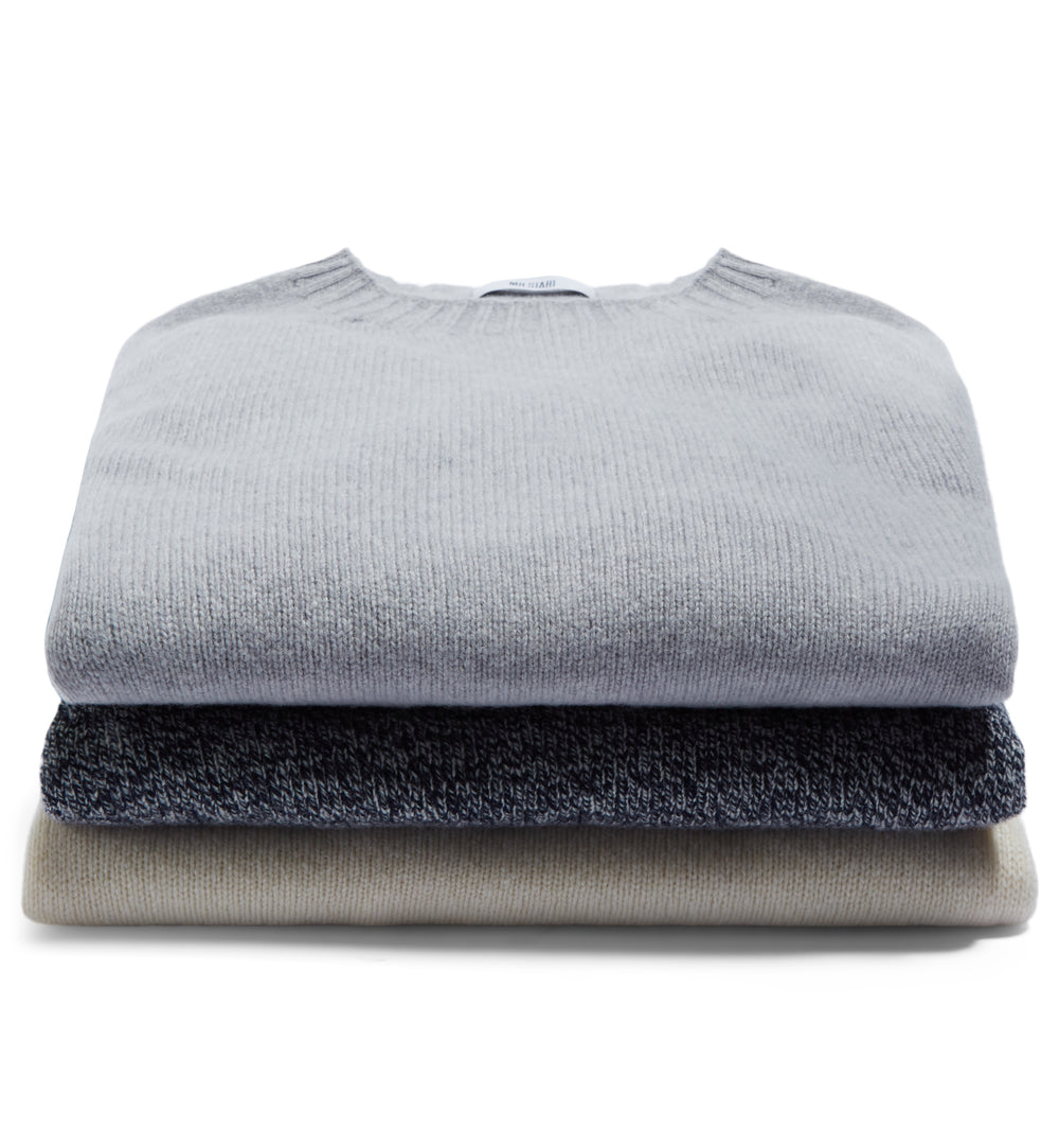 Kilbirnie Geelong Crew Neck Sweater in Chalk