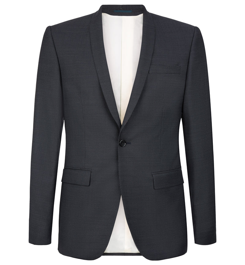 Pin Dot Shawl Collar Evening Suit