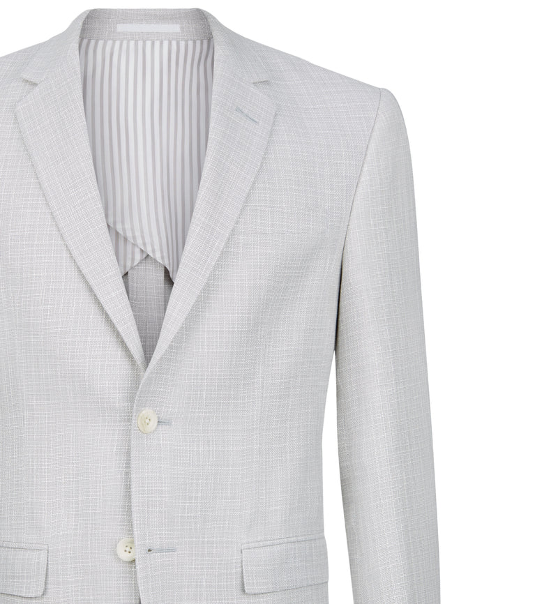 The Resort Jacket in Grey/White Linen