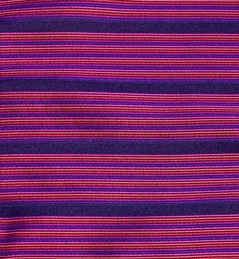 Woven Striped Cerise Silk Pocket Square