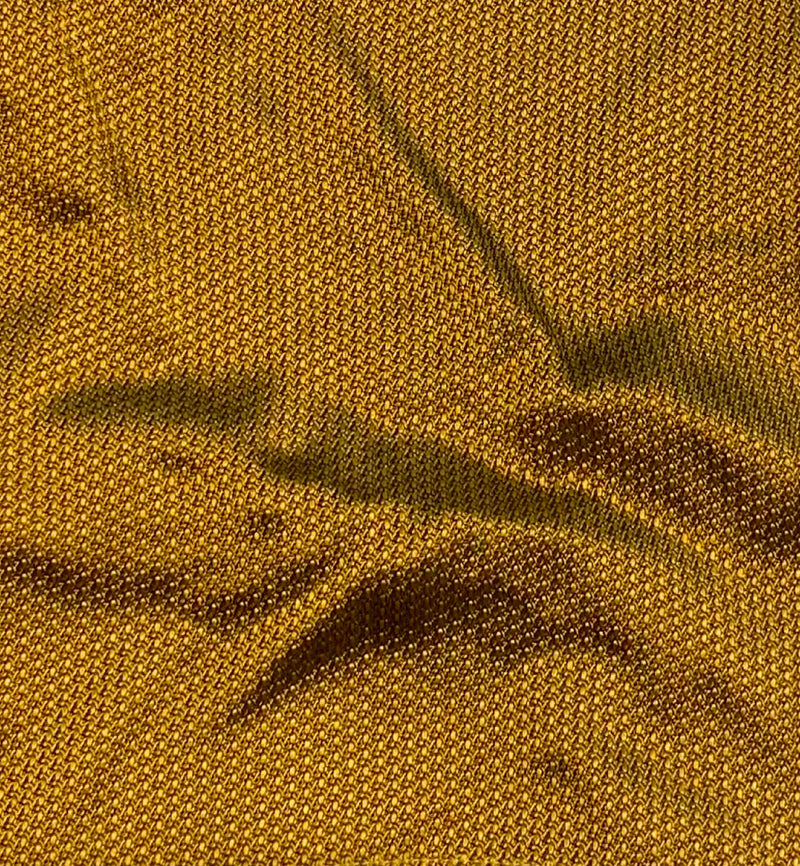 Textured Gold Weave Silk Pocket Square