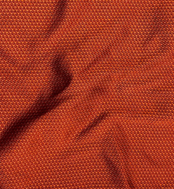 Textured Copper Weave Silk Pocket Square