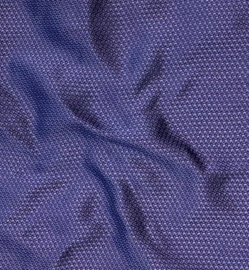 Textured Blue Weave Silk Pocket Square