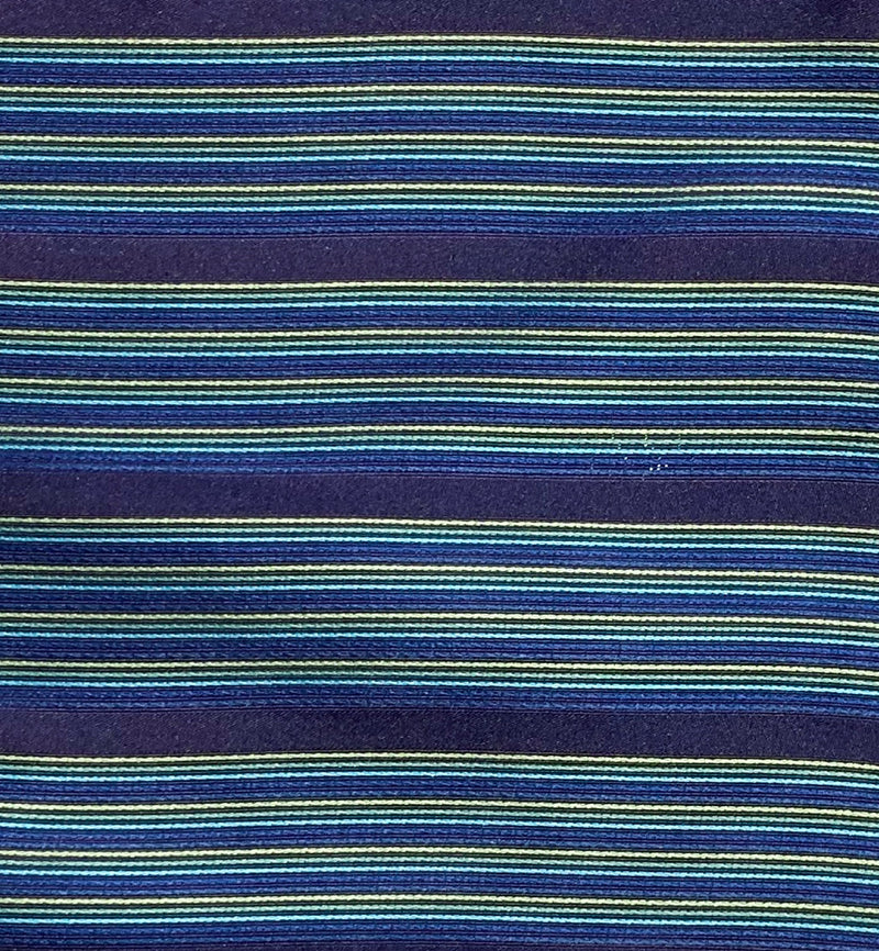 Woven Multi Striped Turquoise Silk Pocket Square