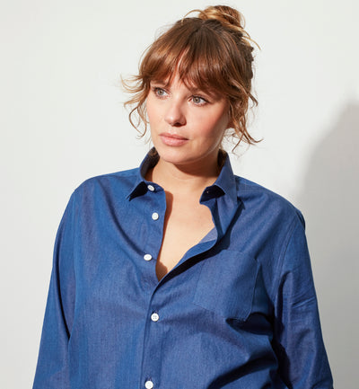Mr Start Woman Chloe Boyfriend Shirt in Denim