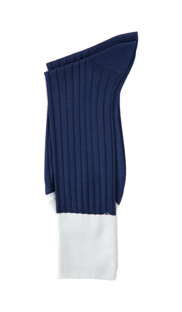 Navy & Grey Specific Object Ribbed Socks