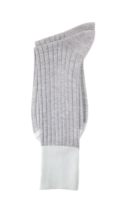 Grey Specific Object Ribbed Socks