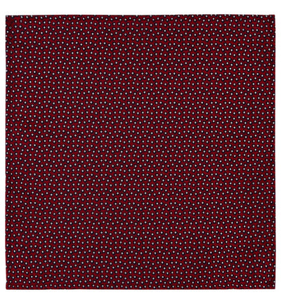 Red Shibori Jacquard Weave Pocket Square