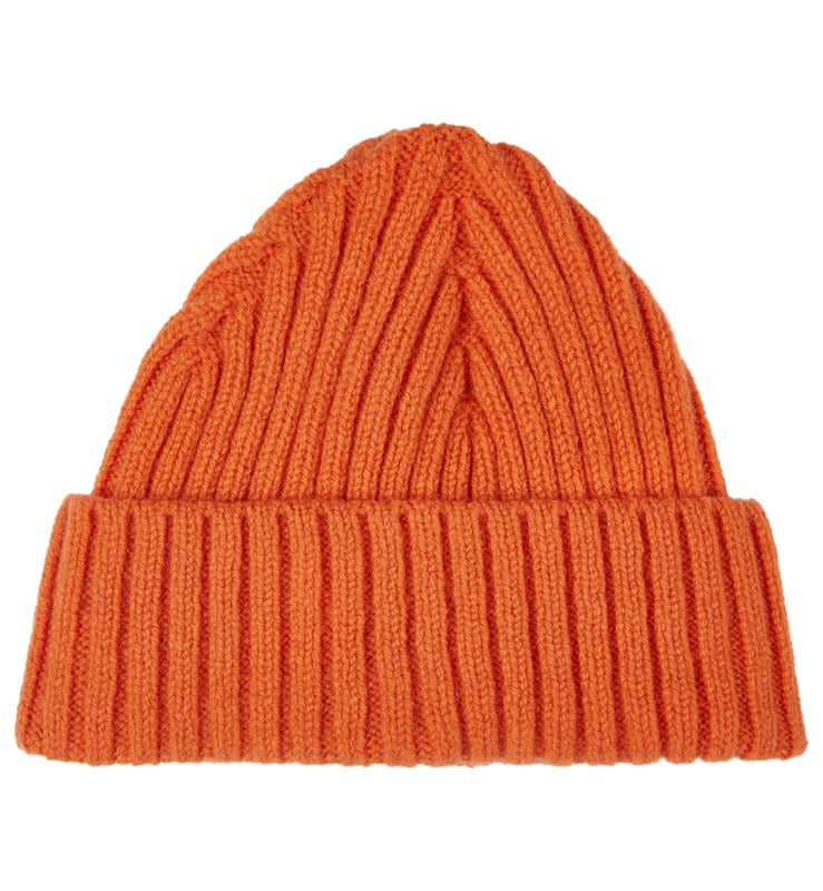 Chunky Ribbed Lambswool Beanie