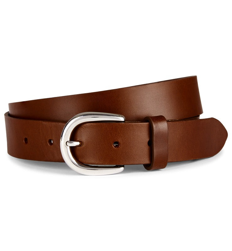 Brown Flat Edge Leather Belt