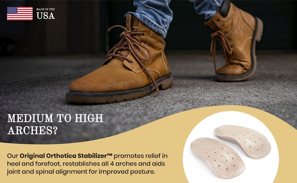 Medium To High Arch Support Insoles by Natural Foot Orthotics