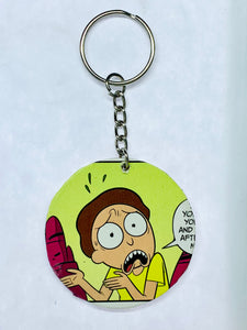 Rick and Morty Keychain