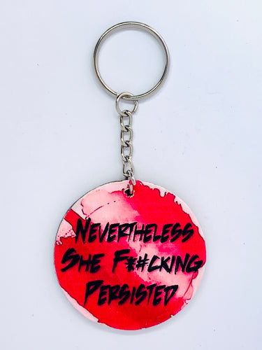 She Persisted Keychain