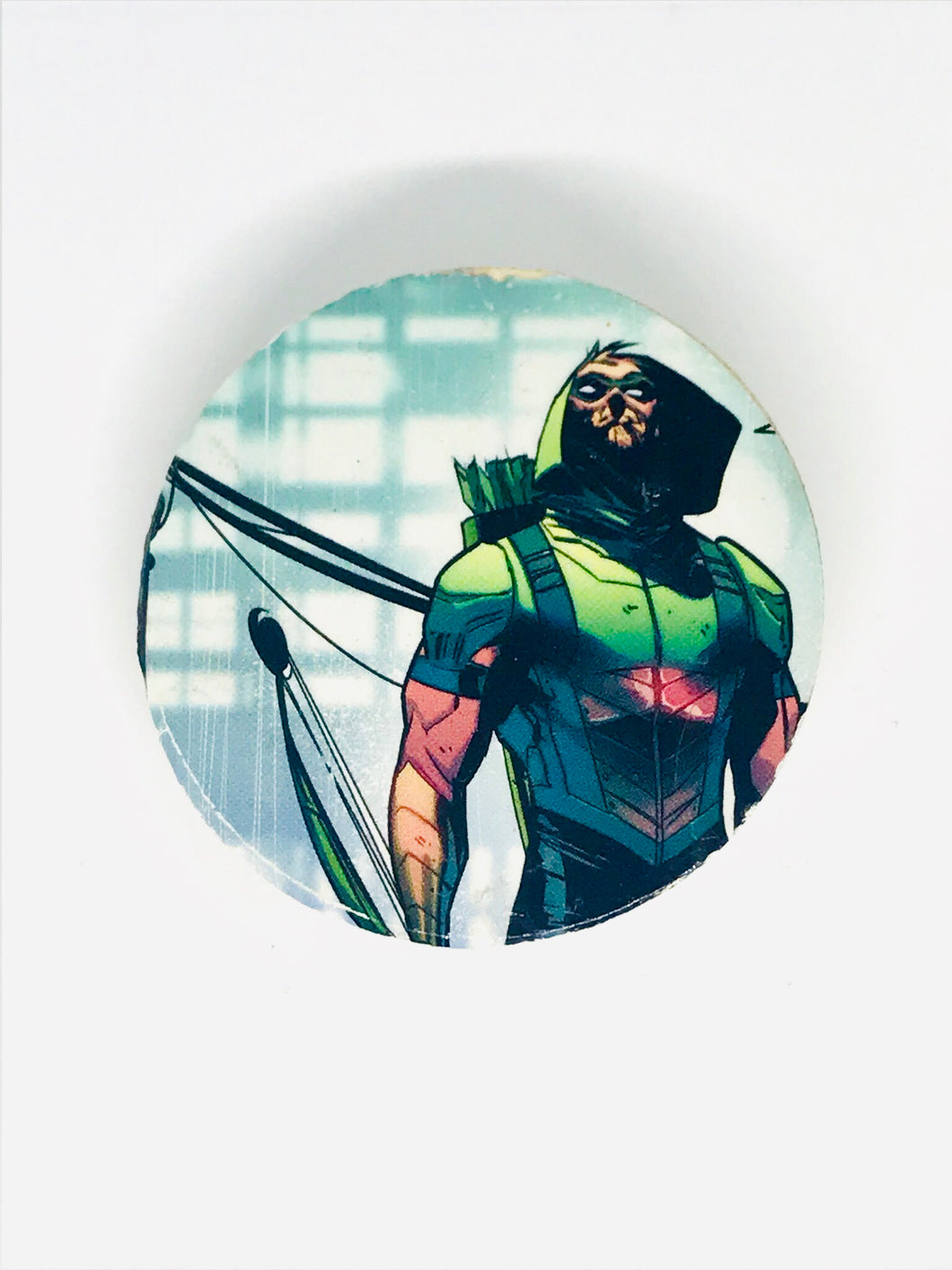 Green Arrow Wood Pin