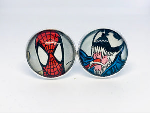 Spiderman & Venom Cufflinks