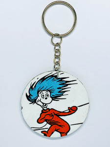 Cat in the Hat Keychain