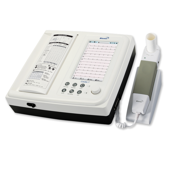 Cardio7-S - Bionet Interpretive Touch Screen Electrocardiograph (ECG / EKG) Machine Combined with Spirometry