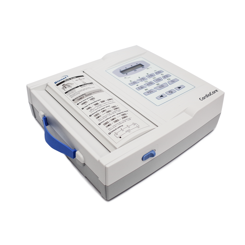 CardioCare 2000 - Bionet Interpretive 12 Channel Electrocardiograph ECG EKG Machine