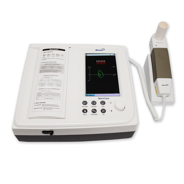 SpiroCare - Bionet Pulmonary Function Testing Touch Screen Spirometer